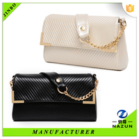 2016 ladies wholesale traveling black leather cross body bags