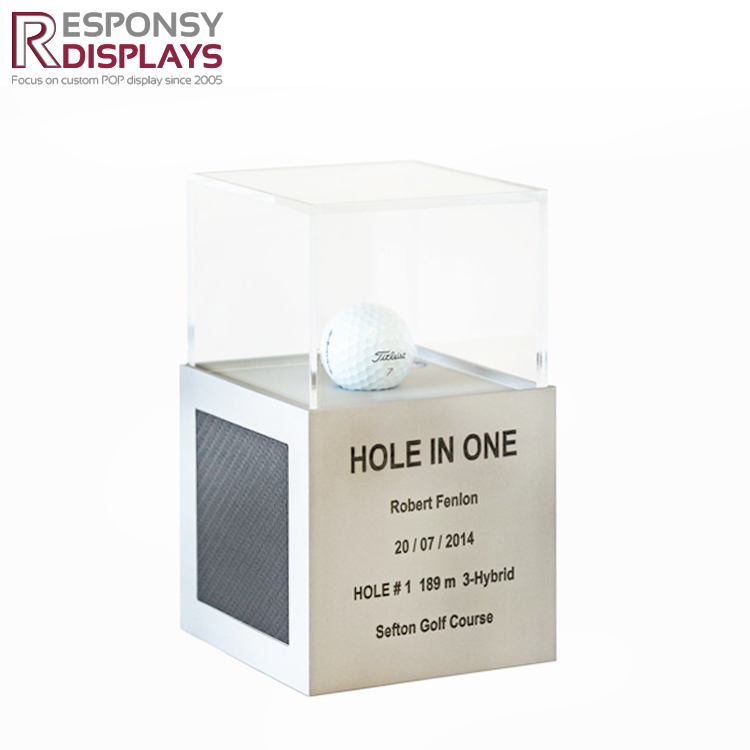 Clear Acrylic Box Golf Ball Display Case