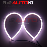 AUTOKI 2016 hottest auto DRL 60/85cm dual color & waterproof led rope light /led flexible daylight