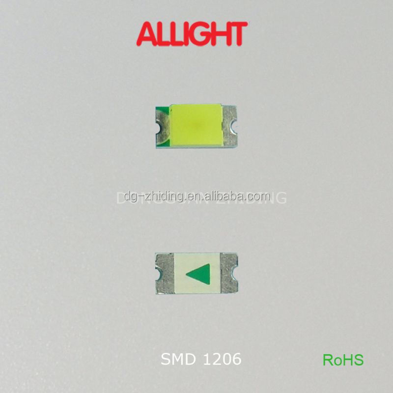 High quality 15-21/XXX smd 1206 led cool white