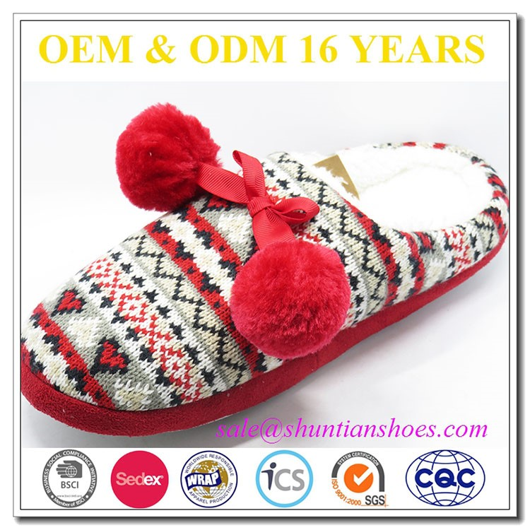 Wholesale Price Small MOQ winter warm slippers, lady indoor slippers, home shoes