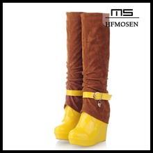 S2131 women boots latest fashion mix-colored over the knee knight boots keep warm winter boots 2013