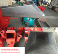 small hammer mill with long chute for family use
