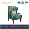 Living Room Lifestyle Mixed Colors Sofa Chair Wood Carved Single Seater Sofa Furniture #X9001AS-1