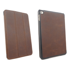 retro leather folio tablet cases for ipad mini 4 with sleep and wake function