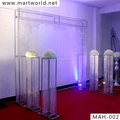 wedding crystal with metal arch design sale in India for wedding stage decoration wedding decoration(MAH-002)