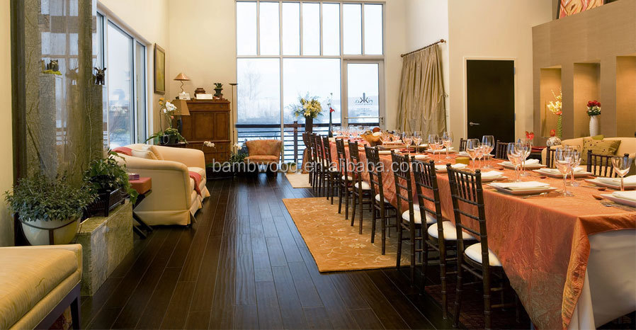 Charcoal Surface Popular and Eco-Friendly Bamboo Flooring