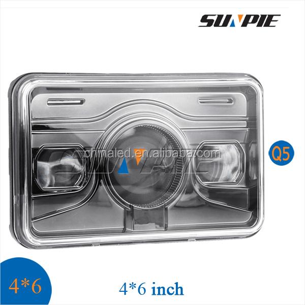Led Headlight Bulb >> 4x6 Inch Led Rectangular Headlights 24v For Trucks,Led Truck Light With High Beam - Buy Led 4x6 ...