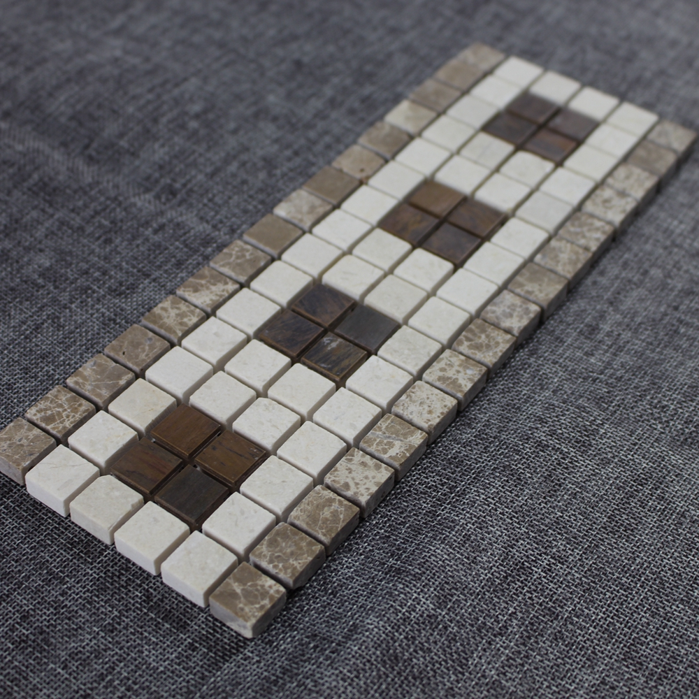 Made in China marble mosaic border tile design with good price