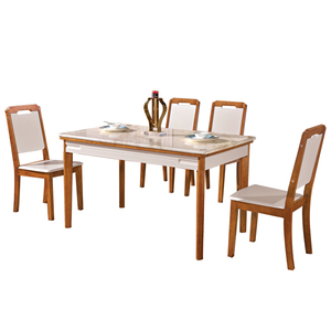 Wholesale modern square glass dining table set