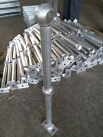 aluminium ball joint railing stanchion