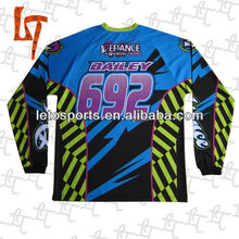 long sleeve custom sublimation motor/racing jerseys/shirts/wear/apparel