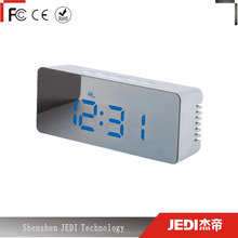 Large display digits clocks led mirror clock for table_MO4314