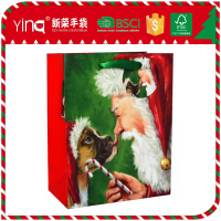 Online shopping ivory paper christmas dog pet hand bags