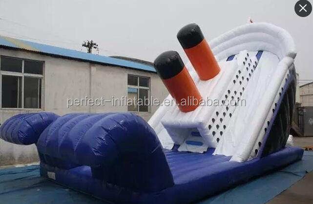 2017 Newly design amusement park inflatable water slide equipment for sale giant inflatable slide