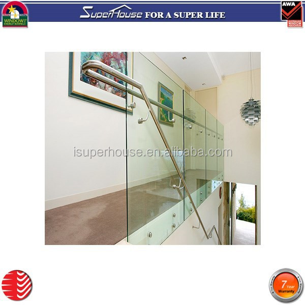 Modern style tempered glass convenient staircase portable handrail