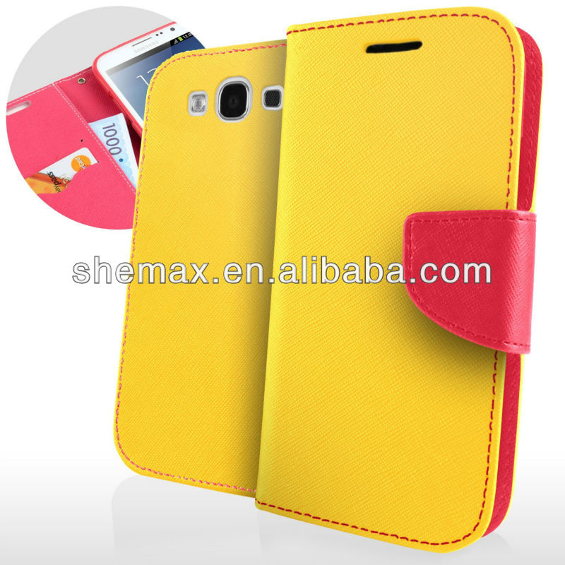 Fancy Diary Wallet Cover Leather Flip Case For Samsung Galaxy s3 mini i8190