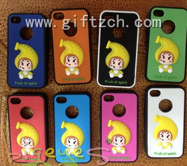 Fruit baby Silicone mobile phone case for iphone5