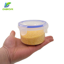 Leakproof 300ml round food grade small crisper mini easy lock food plastic container with lid