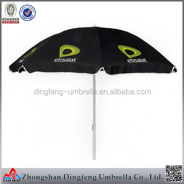 Wholesale Mini Wave Black polyester anti uv folding Beach Umbrella