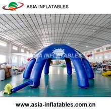 9Diameter Blue Giant Advertising Inflatable Spider Tent for Sale / 6 Legs Advertising Inflatable Dome Tent for sale