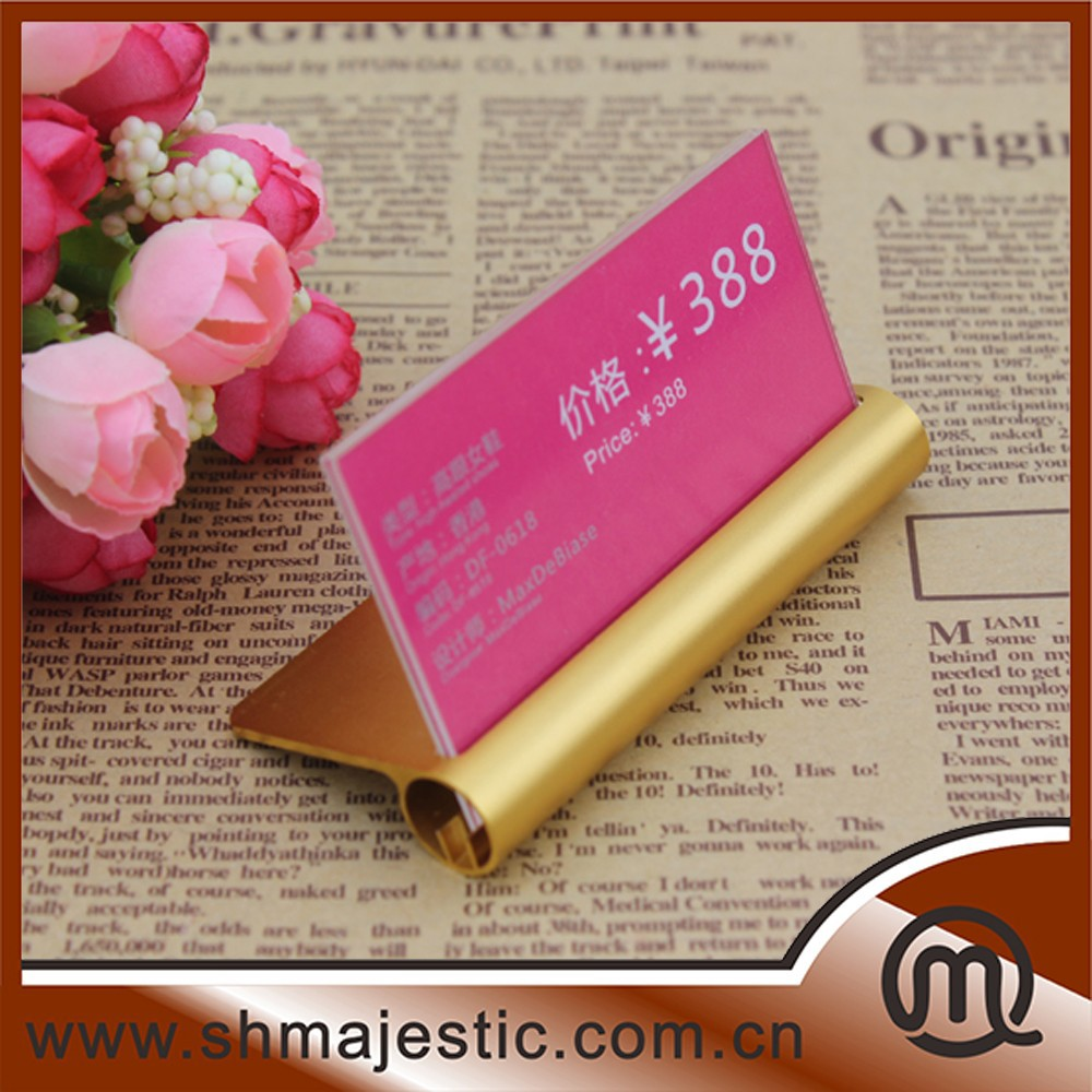 Silver & gold color metal table display stand tabletop display stand for showing store price