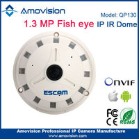 Escam best selling best quality QP130 1.3MP mini fish eye panorama ip camera