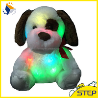 Customized LED Plush Toys Soft Dog Plush Toys Glow Puppy Baby Gifts 12 Inch Height