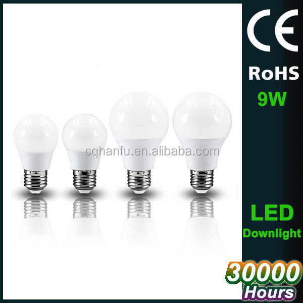 Low cost 9w equivalent E27 E14 led light bulb, led light bulbs wholesale