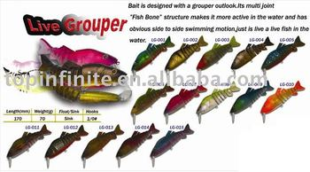fishing lure hard plastic lures hard baits live grouper, view, Reel Combo