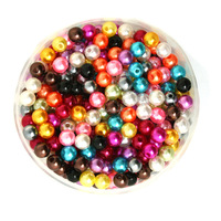 Wholesale 3m Mixed colour Pearl Beads,Acrylic Spacer Ball Round Beads white black U-pick Fit Jewelry DIY