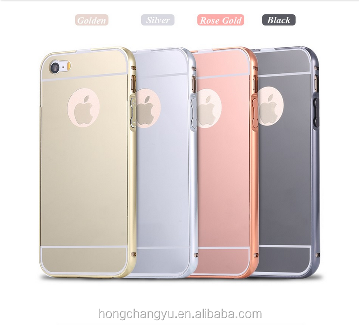 factory price luxury aluminum metal mirror bulk cell phone case for iphone 5 5s