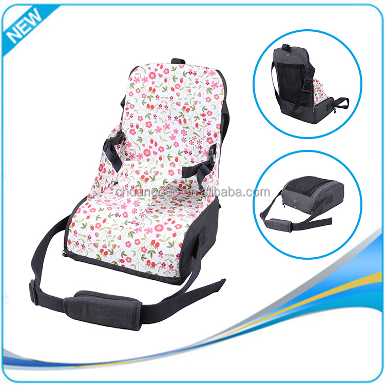 Cotton Folding Child Travel Booster Seat,Portable Baby Booster Seat