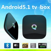Q box smart tv box web camera and air mouse android tv box