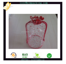 Eco-friendly sewing drawstring clear PVC gift bag