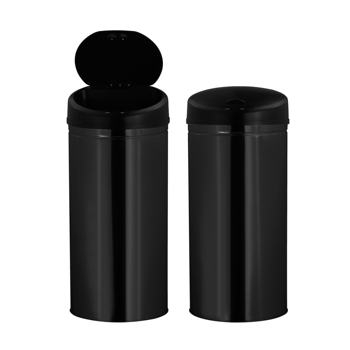 Kitchen Black Round Big Sensor Dustbin