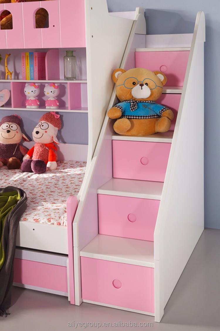 Zc01 nieuwe ontwerp modieuze moderne kinderen meubels goedkope stapelbedden kinderen bedden - Bibliotheques ontwerp ...