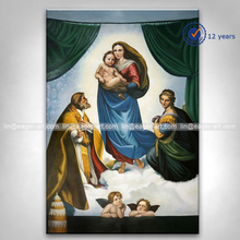 Wholesale High Quality Wall Art Decoration Handmade Canvas Christian Angel Classical Oil Painting