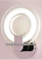 Colorful ring modern fluorescent wall light