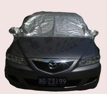 170T Silver Coating Polyester Magnetic Car Windshield Cover