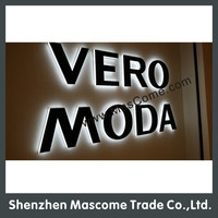 Factory direct sales famous garment brand advertising signs