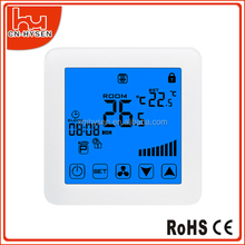 HY08AC 4pipes FCU Digital Modbus Room Thermostat With Fan Remote Controller