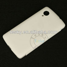 White Color Quickcover Flip Cover Case Skin For LG Google Nexus 5 E980 With Real Machine Test