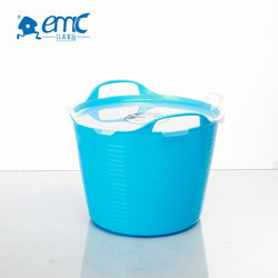 wholesale pp cheap small plastic storage bucket with lid and handles