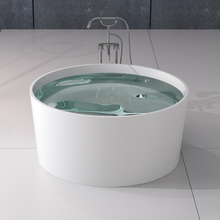 BS-8642 Eco-friendly freestanding solid surface round bathtub