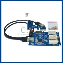 pci-e 1x 1 to 3 port 1x switch multiplier expander