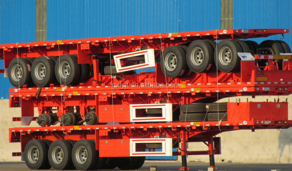 CIMC 3 axles tipper trailer hydraulic dump semi trailer for sale
