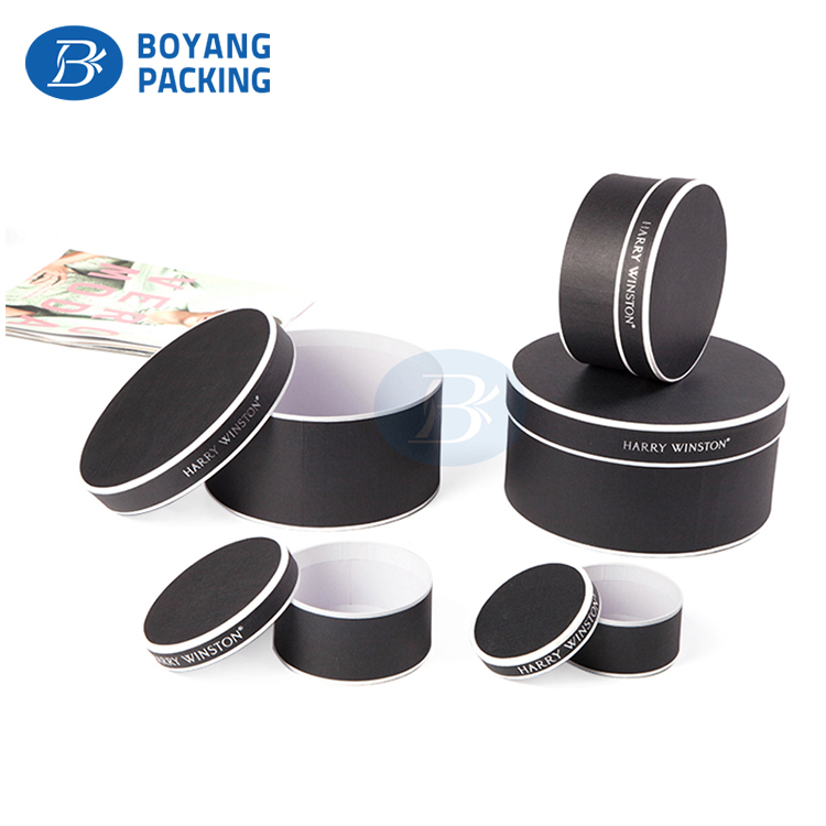 Wholesale customized High quality round paper headband packaging box