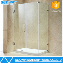Luxury Bathroom Frameless Shower Partition 10mm Tempered Glass stainless steel shower stall