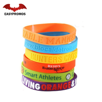 Promotional Fashion Debossed Bracelet Promotion Silicon Wristband